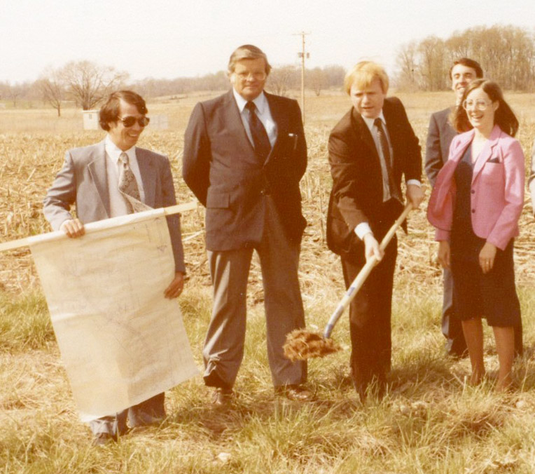 Bruce Eberle and team breaks ground in the 1970s.